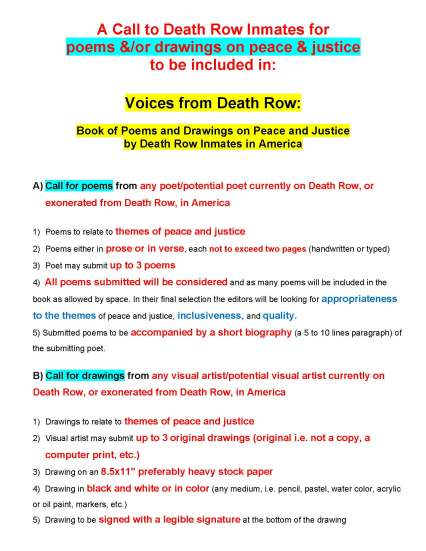 voices-from-deathrow-call-to-deathrow-inmates-for-poems-and-drawings-on-peace-and-justice_page_1